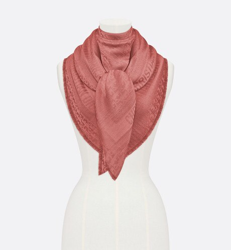 Click here to enlarge the product picture Pink New Dior Oblique Wool-Blend Jacquard Shawl