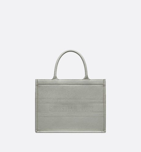 Small Gray Calfskin Dior Book Tote aria_frontView