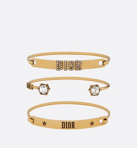 Set of Dio(r)evolution bracelets Gold aria_frontView