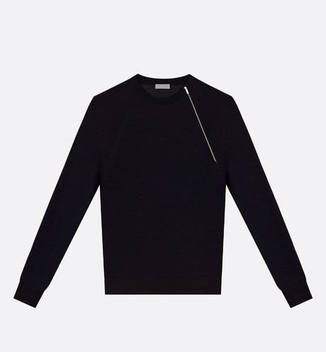 Sweater with Asymmetric Fastening Front view