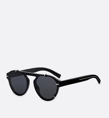 """BlackTie254S"" sunglasses, black front view"