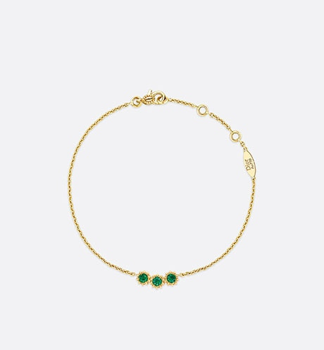 Mimirose bracelet, 18K yellow gold and emeralds aria_frontView