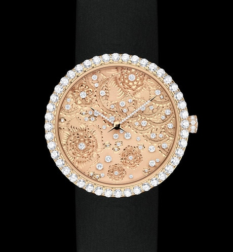 La D de Dior Dentelle Ø 38 mm, movimiento cuarzo aria_frontView