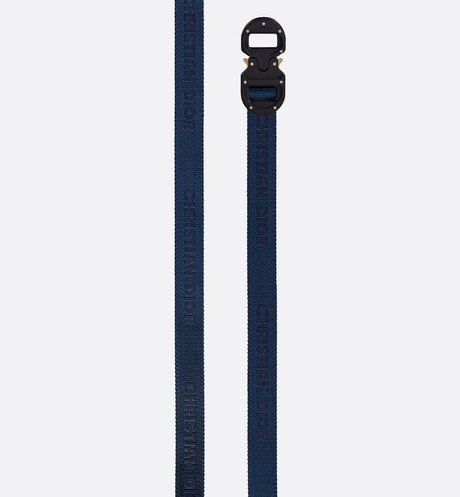25 MM Navy Blue 'CD' Nylon Belt aria_frontView