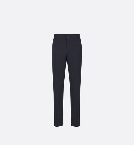 Navy Stretch Cotton Gabardine Workwear Pants front view