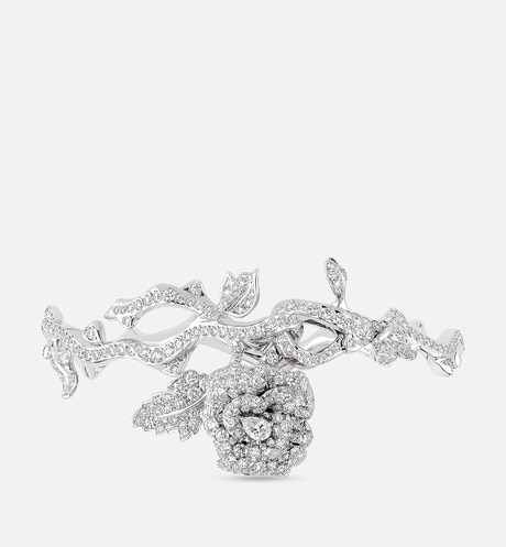 Click here to enlarge the product picture Rose Dior Bagatelle bracelet in 18k white gold and diamonds