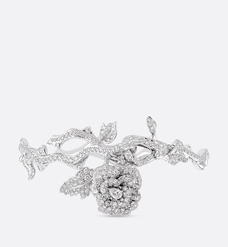 Rose Dior Bagatelle bracelet in 18k white gold and diamonds White aria_frontView