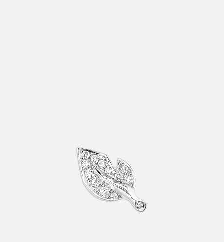 Rose Dior Bagatelle earring in 18k white gold and diamonds White aria_frontView