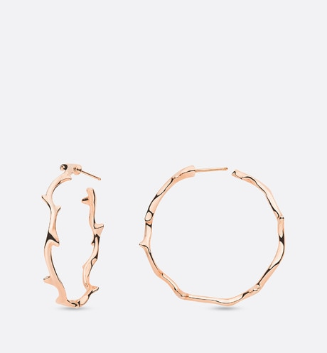Bois de Rose earrings, large model, in 18k pink gold Pink aria_frontView