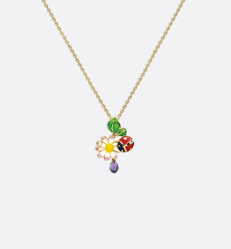 Collier Diorette, or jaune 750/1000e Multicolor aria_frontView