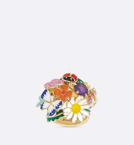 Diorette ring, medium model, in 18k yellow gold and amethyst aria_frontView