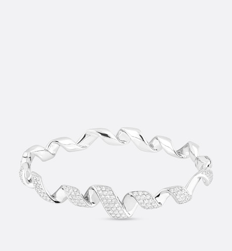 18k white gold Archi Dior Diorama bracelet with diamonds White aria_frontView