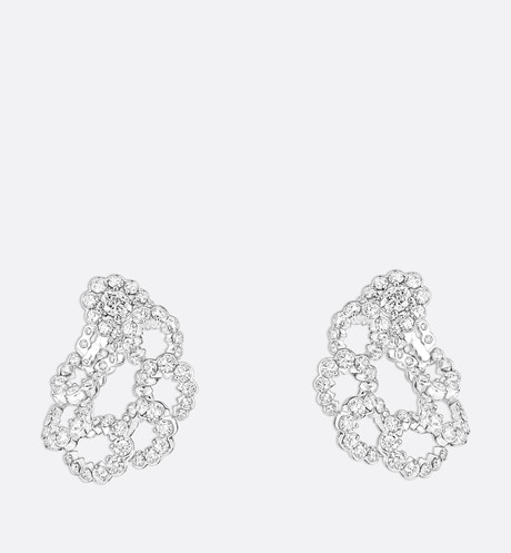 "Archi Dior ""Milieu du Siècle Diamant"" earrings in 18k white gold and diamonds aria_frontView"