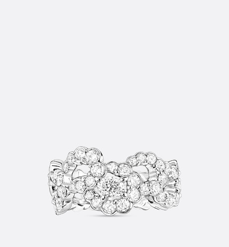 "Archi Dior ""Milieu du Siècle Diamant"" ring in 18k white gold and diamonds aria_frontView"