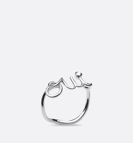 Oui ring in 18k white gold and diamond aria_frontView