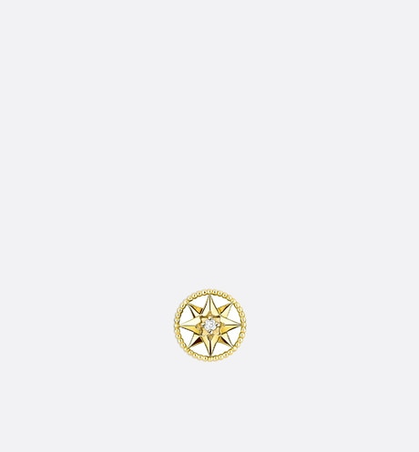 Rose des vents xs earring, 18k yellow gold and diamond front view