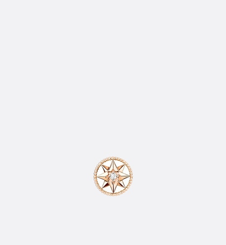 Click here to enlarge the product picture Rose des vents xs earring, 18k pink gold and diamond