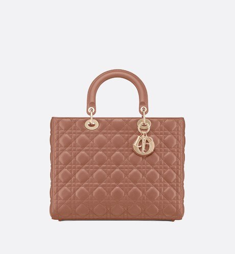 Click here to enlarge the product picture Lady Dior lambskin tote bag