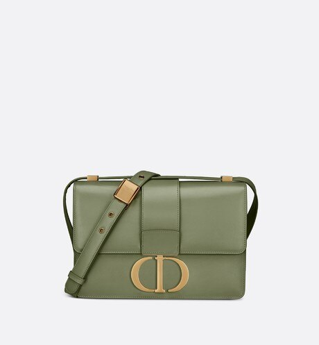 Borsa con pattina 30 Montaigne in pelle di vitello box-calf verde aria_frontView