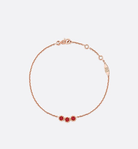 Click here to enlarge the product picture Mimirose bracelet, 18K pink gold and rubies
