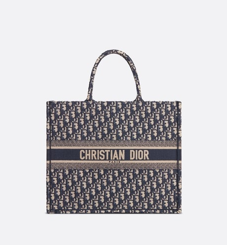 Dior Book Tote Dior Oblique bag Blue front view