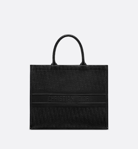 Dior Book Tote Dior Oblique bag Black front view