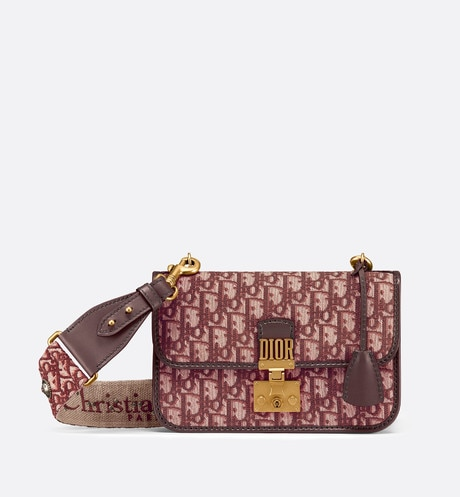 Dioraddict Dior Oblique bag Burgundy front view