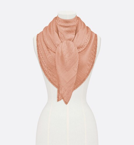Click here to enlarge the product picture Pink Dior Oblique Wool-Blend Jacquard Shawl