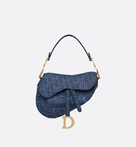 Sac Saddle en toile denim aria_frontView