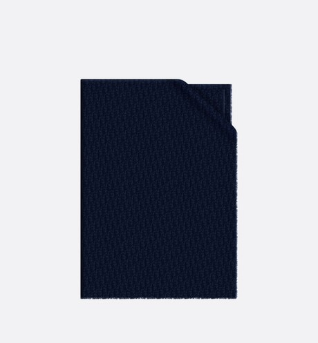 Click here to enlarge the product picture Navy Blue Dior Oblique Cashmere Stole