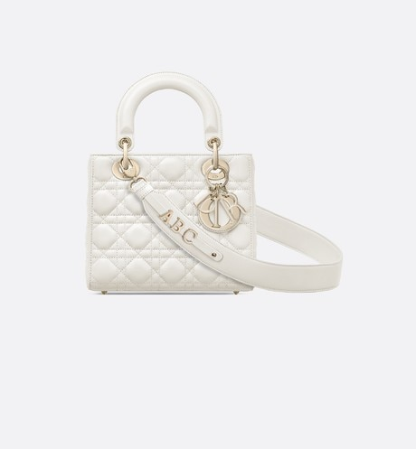 My ABCDior lambskin bag White front view