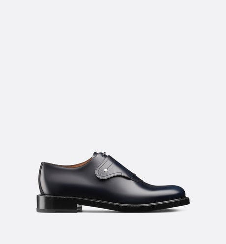 Click here to enlarge the product picture Saddle Monk Derby Shoe in Navy Blue Calfskin