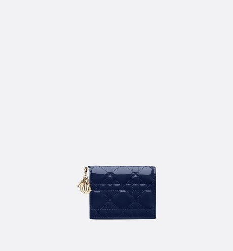 Click here to enlarge the product picture Lady Dior wallet in blue calfskin