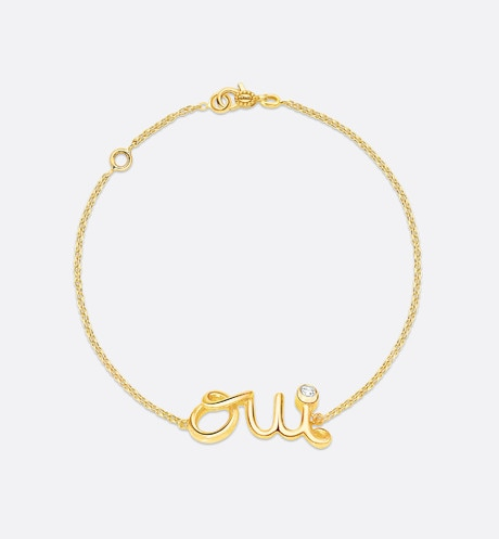 Click here to enlarge the product picture Oui bracelet in 18k yellow gold and diamond