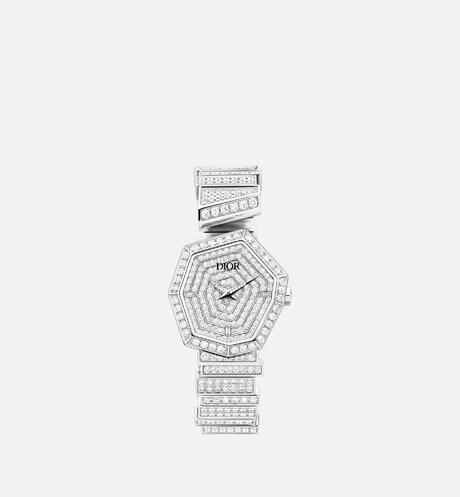 18K 白金和鑽石 GEM DIOR aria_frontView