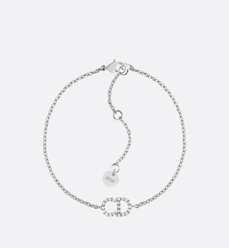White Crystal Clair D Lune Palladium Finish Bracelet aria_frontView