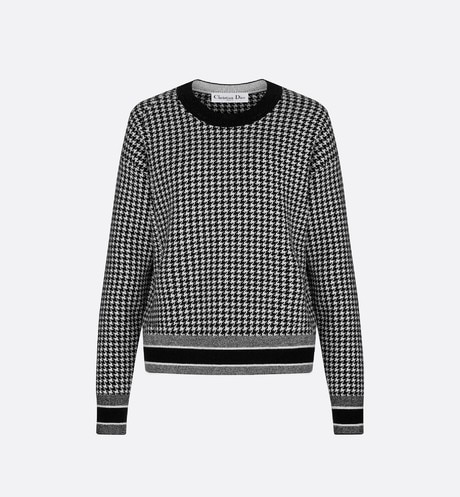 Houndstooth Fantaisie 30 Montaigne Jacquard Knit Sweater aria_frontView