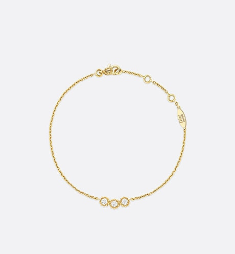 Mimirose bracelet, 18K yellow gold and diamonds aria_frontView