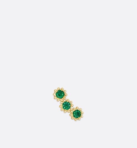 Click here to enlarge the product picture Mimirose earring, 18K yellow gold and emeralds