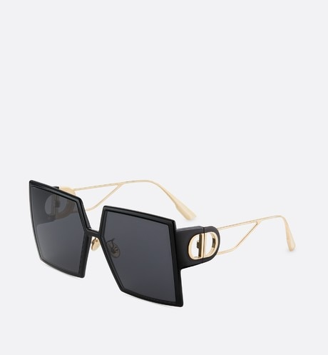 30Montaigne Black Square Sunglasses front view