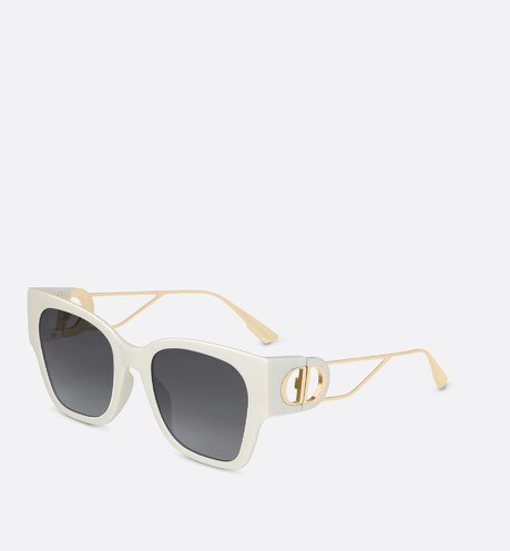 30Montaigne1 Ivory Rectangular Sunglasses aria_frontView