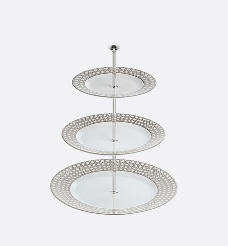 Click here to enlarge the product picture Cannage Montaigne three-tiered cake stand