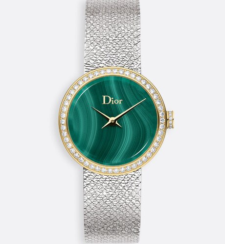 La D de Dior Satine Ø25 mm, mouvement quartz Vue de face
