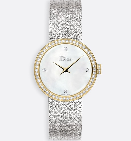 Click here to enlarge the product picture La D de Dior Satine Ø25 mm, quartz movement