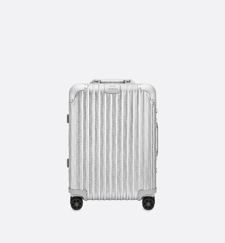 Click here to enlarge the product picture Gray DIOR and RIMOWA Cabin Suitcase in Dior Oblique Aluminum