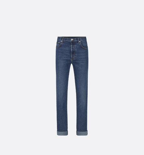 Washed Blue Slim-Fit Jeans aria_frontView