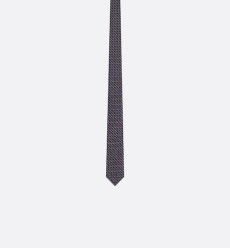 Click here to enlarge the product picture Blue Micro Cannage Silk Jacquard Tie
