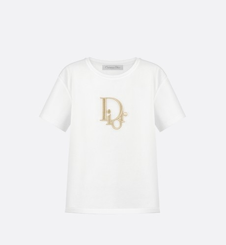 Cotton T-shirt with 'Dior Oblique' patch aria_frontView