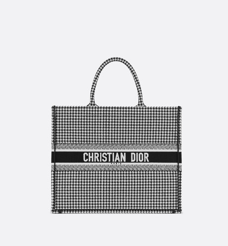 Dior Book Tote bag in embroidered canvas aria_frontView