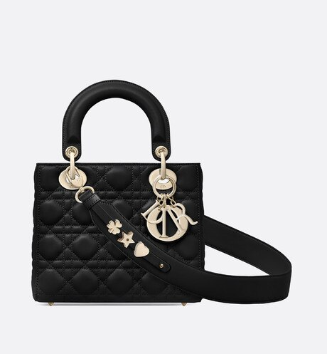 My ABCDior lambskin bag Black front view